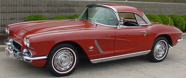 1962 Red Convertible Corvette
