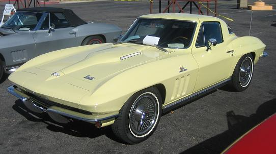 1965 Goldenrod Corvette Coupe