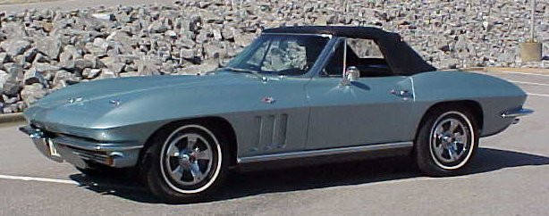 1966 Blue Corvette Convertible