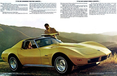 1974 Yellow Corvette Coupe Ad