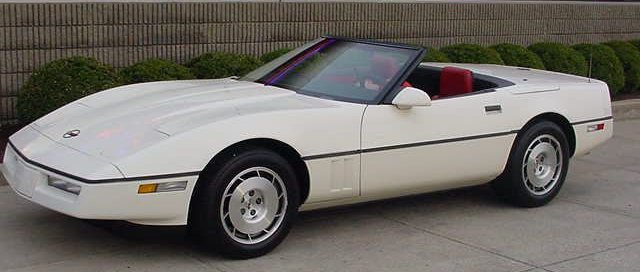 1986 White Convertible Corvette
