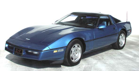 1988 Blue Corvette Coupe. The 1988 Chevrolet Corvette represented the 35th