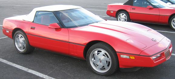1990 Red Convertible Corvette