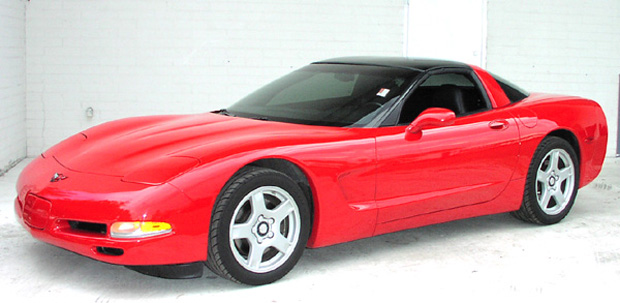 1999 Red Glass Top Corvette Coupe