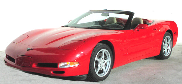 2000 Red Convertible Corvette